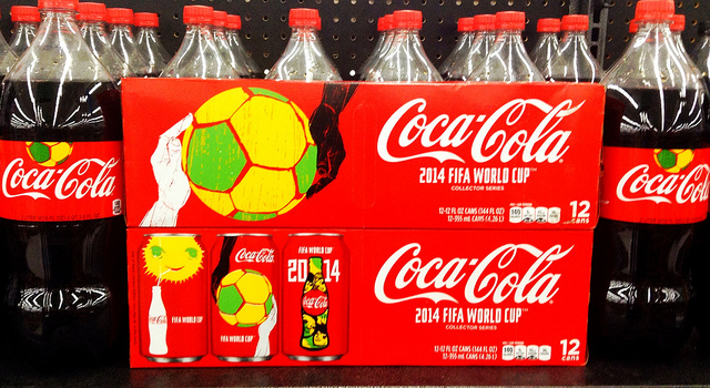 coca cola's world cup-themed merchandising