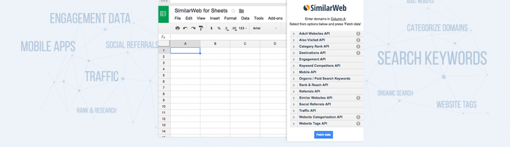 similarweb for google spreadsheets