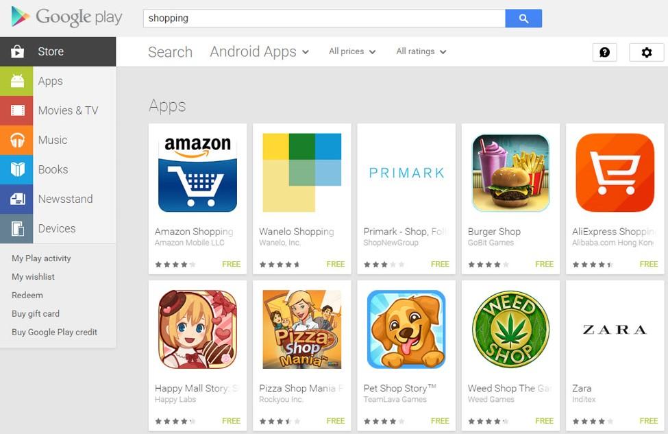 amazon shopping app play store US