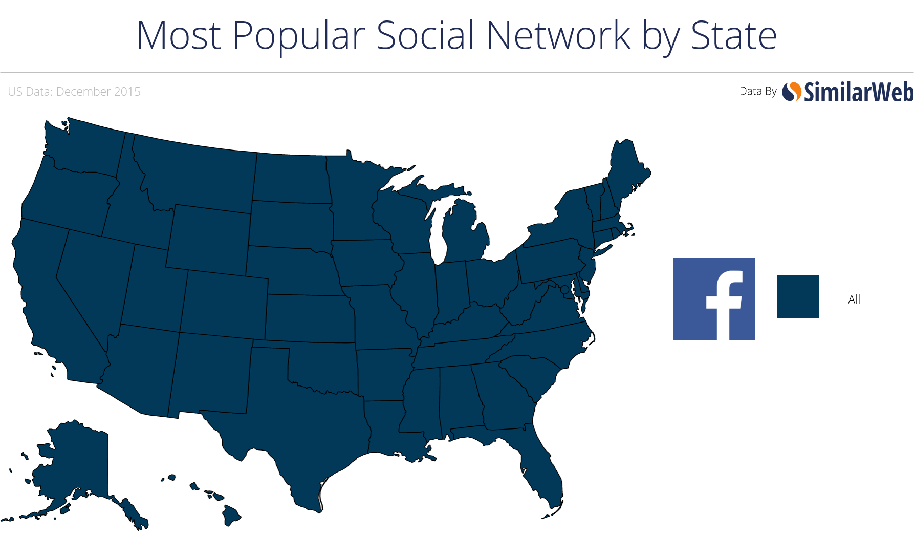 Second Most Popular Social Network by State