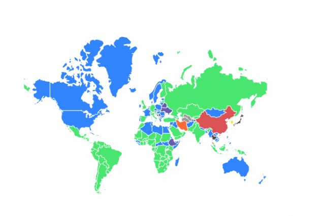 Map Of Asia Video.Mobile Messaging App Map February 2018